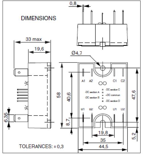 celduc quad power solid state relay scq842060  scq842000