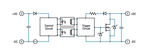 wiring diagram used on crydom solid state relay d1d40 ,d1d100 , dc  control on